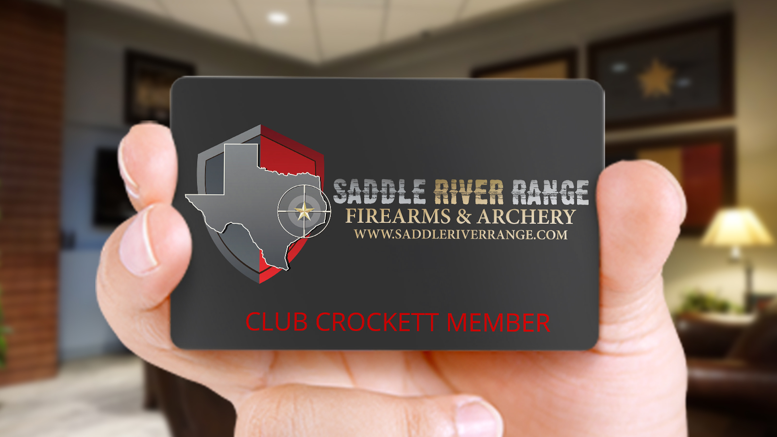 Club Crockett membership card gets you access to an exclusive gun club with private lanes