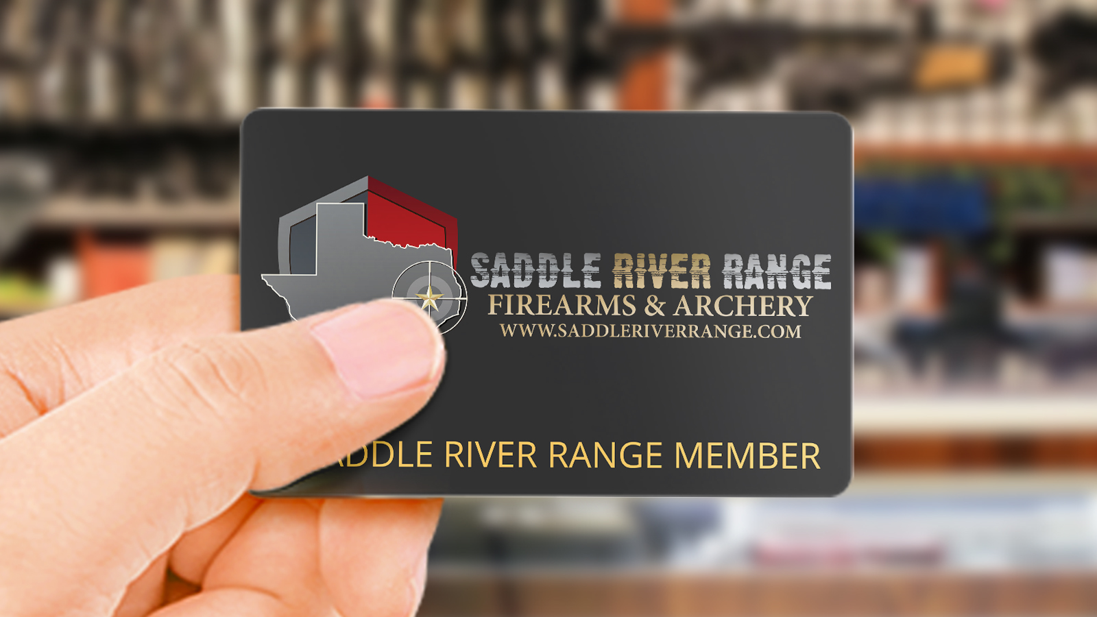 Saddle River Range Gold Membership Card gets you discounts in the store